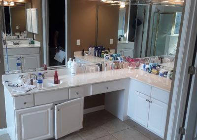 Johns Creek Master Bath Cabinets - Before