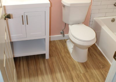Snellville Master Vanity, Toilet, Floor - After
