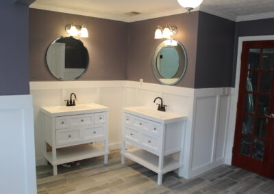 Loganville Master Vanities/Mirrors/Lights- After