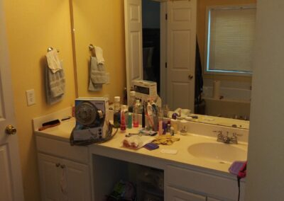 Loganville Master Vanity/Mirror/Light - Before