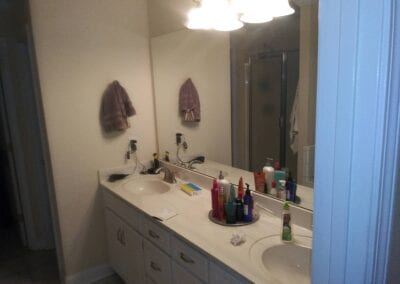 Loganville Master Vanity/Faucets/Mirror/Light - Before
