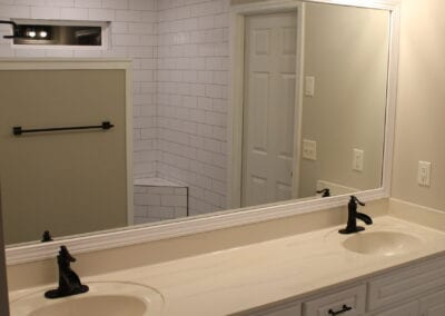 Loganville Master Vanity/Faucets/Mirror/Light - After