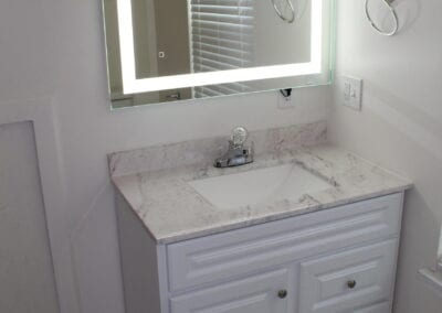 Loganville New Ensuite Bathroom Vanity/Mirror - After