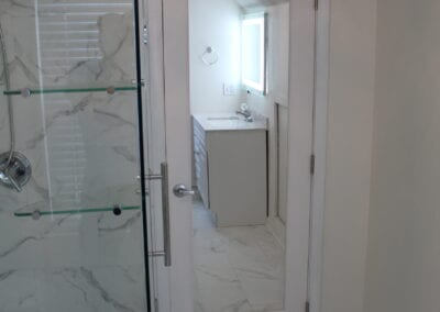 Loganville New Ensuite Bathroom Doorway - After