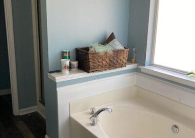 Loganville Master Shower & Tub - Before