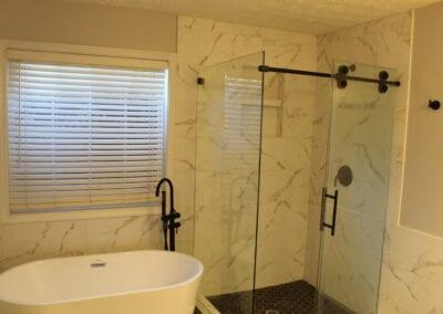 Lawrenceville Master Tub/Shower/Glass Enclosure - After