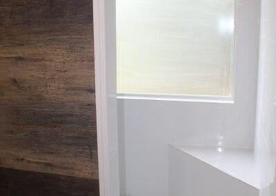 Loganville Master Shower Partition Wall & Corner Bench - After