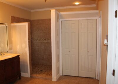Loganville Master Shower & Linen Closet - After