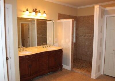 Loganville Master Vanity & Shower - After