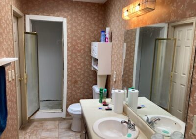 Lawrenceville Master Shower/Vanity/Floor - Before