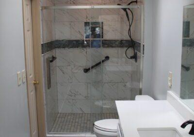 Lawrenceville Master Shower/Vanity/Floor - After
